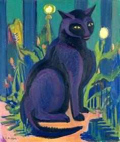 The Black Cat Ernst Ludwig Kirchner - 1926