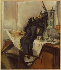 Franz Kline (US 1910–1962), Still Life with Puppet, oil/canvas, ca. 1940. Metropolitan Museum of Art, NY.