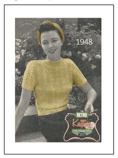 1940's Sports Sweater and Snood Knitting Pattern - Instant Download - PDF door MyVintageWish op Etsy https://www.etsy.com/nl/listing/236176176/1940s-sports-sweater-and-snood-knitting