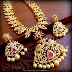 Imitation Stone Long Necklace Set from Dimple Collections