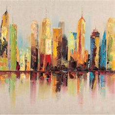 Get a city view without the corner office. This wall art comes with complete hooks attached. Artist: Unknown Title: Metropolitan I Product type: Canvas wall art Style: Contemporary Format: Square Subj