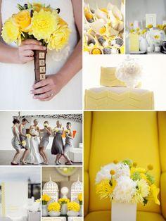 yellow & gray inspiration   wedding