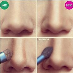 DIY make-up Trick nose #nosejob