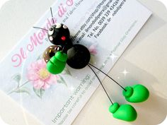 Kawaii Coloured Little Ant  Magnet in Polymer by IlMondodiPetra