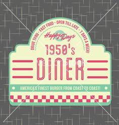 1950s diner style logo design vector by wingnutdesigns on VectorStock®