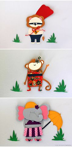 little paper animals
