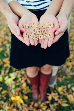 Scrabble letters & ring