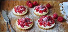 Tartlets (muffins) with raspberries and mascarpone Sweet Tooth, Raspberry, Cheesecake, Deserts, Cookies, Recipes, Sweets, Food, Diet
