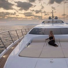 Summer Evenings spent relaxing aboard this beautiful Yacht.   Super Yachts   Travel
