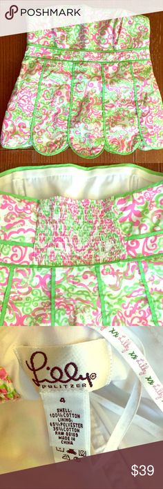 Lily Pulitzer Floral Top Excellent condition, side zipper, pre-owned corset floral top. Lilly Pulitzer Other