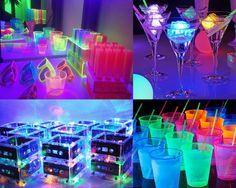Festa 15 anos Debutante Neon Decoração