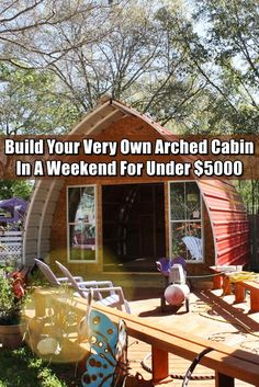 Are A-frame Cabin Kits Worth it? Cabana, Quonset Homes, Arched Cabin, Building A Cabin, Building A Tiny House, Building Ideas, Tiny House Cabin, Tiny Houses, Do It Yourself Furniture