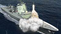 Australian destroyer's final keel block in place