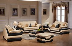 Living Room Sofa, Dining Room, Modern Leather Sofa, Sofa Set, Sofa Design, Room Ideas, Couch, Chair, Furniture