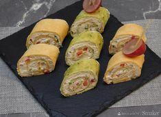 Roladki z tortilli w smakach kilku - przepis ze Smaker.pl Fresh Rolls, Guacamole, Chilli, Sushi, Cos, Ethnic Recipes, Sushi Rolls