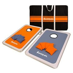 Looking for fun and exciting ways to make the most out of your weekends without traveling far and spending much? This cool cornhole game set can highlight any outdoor activity. The two-piece dense fiber wood boards are protected by durable aluminum frames against bumps ensuring multiple plays... more details available at https://perfect-gifts.bestselleroutlets.com/gifts-for-holidays/toys-games/product-review-for-harvil-aluminum-framed-cornhole-bean-bag-toss-game-set-with-8-do