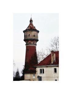 Water tower in Drezdenko, Poland.