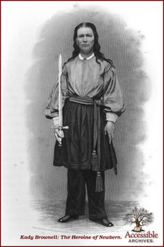 Such was the brave young wife whose name stands at the head of our sketch; and such were her courage, her bearing, and her services on the plains of Manassas and at the battle of Newbern. Her father was a Scotchman, and a soldier in the British army. He was stationed far away on the African coast, in Caffraria; and there, in the year 1842, in the regimental barracks, and surrounded by the rude but kind old soldiers, her father's companions in arms, little Kady was born.