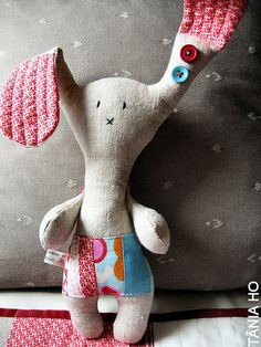 the long eared patchwork bunny by Tania Ho, via Flickr