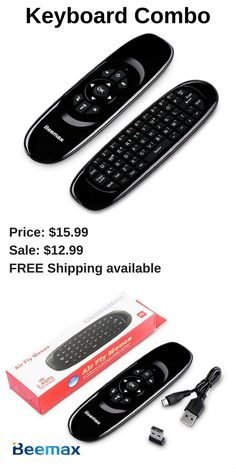 Beemax C120 Pro Wireless Mouse Keyboard Combo with Air Control Qwerty Keyboard for PC HTPC IPTV Smart TV and Android TV Box. 📌show details http://takezon.blogspot.com/