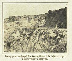 Prokopský lom, Prokopské údolí 1923 Vintage World Maps