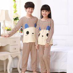 babdb8fd78 Autumn winter children kids pajamas boys girls pajamas set
