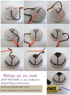 Amigurumi Faces - Photo Tutorial ❥ 4U // hf
