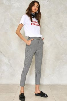 Make It Fair Gingham Pants Pantalones De Cuadros 17eebc8f1b25