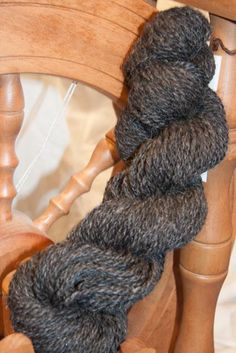 Handspun Shetland Yarn. Two ply. Natural Charcoal. by callwool