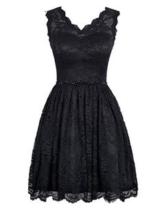 Diyouth Elegant Short V Neck Lace Casual Party Cocktail Bridesmaid Dress Black Size 12 Diyouth http://www.amazon.com/dp/B00XY6ZBW4/ref=cm_sw_r_pi_dp_7GfPwb14DVGH0