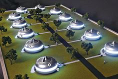 Buckminster (Bucky) Fuller's model of the Dymaxion neighborhood.