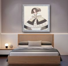 Cuadro Menina-monocromática marco plata Color Terracota, Bed, Furniture, Home Decor, Ideas, Hipster Baby Girls, Watercolor Painting, Home Decoration, Yurts