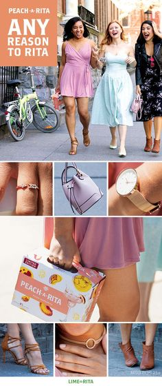 When the weather is perfect for  wearing spring dresses, the squad  always comes together. And that can  only mean one thing: Brunch outside.  Spring's must-have accessories are  all about the latest trend: statement  gold accessories. These streamlined  pieces are so versatile than you can  pair them with anything.  Another accessory to put on your  radar this season: mini backpacks in  natural and blush leather tones. Side Note: They're a perfectly sized for a Lime-A-Rita. Just sayin'.