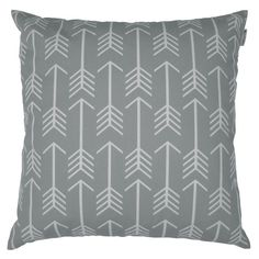 Amazon.com - JinStyles® Cotton Canvas Arrow Accent Decorative Throw Pillow Cover (Slate Gray, White, Square, 1 Cover for 22 x 22 Inserts) -