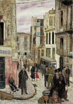 Your Paintings - Carel Victor Morlais Weight paintings Urban Life, Urban Art, Art Through The Ages, Tate Gallery, Cityscape Art, Royal College Of Art, Your Paintings, Classic Paintings, Art Uk