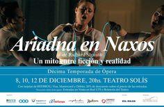 Ariadna en Naxos, de Richard Strauss: 8, 10 Y 12 DE DICIEMBRE 2014, 20:00 HS - SALA PRINCIPAL - TEATRO SOLIS (Montevideo, Uruguay)
