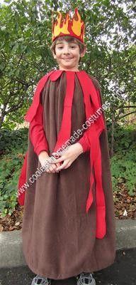 Homemade Volcano Halloween Costume