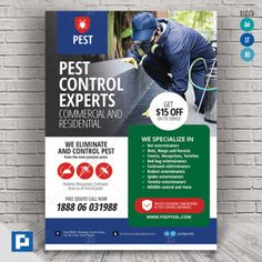 Pest and Insect Control Services Flyer - PSDPixel