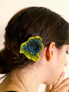 Green Moss Hair Clip by TaviaSanza on