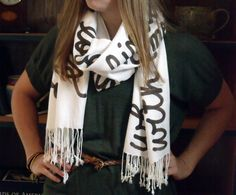 personalized scarf from this etsy shop!