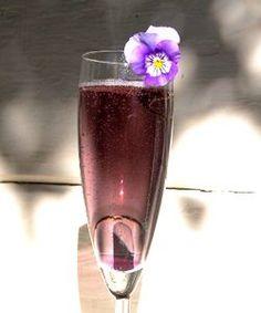 Champagne + creme de violet
