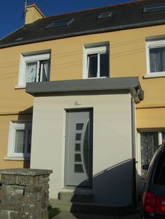 Extension, agrandissement maison Brest et Finistère (29) Brest, Architecture, Garage Doors, Outdoor Decor, House, Home Decor, Rear Extension, Grand Opening, Bay Windows