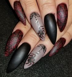 Matte spiders by Oli123 from Nail Art Gallery