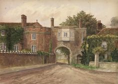 Old palace, Richmond, Surrey from the green, 1926 – Orleans House Gallery Happy Things, Old Things, Richmond Surrey, Historic Houses, Place Names, Royal Palace, Art Uk, Tower, England