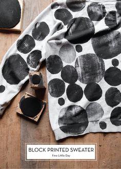 12 DECEMBER DIYS – Block Printed Sweater