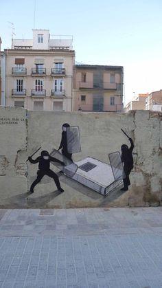 Street Artist: Escif in Valencia *^*\  wall art  graffiti grafic paint street art