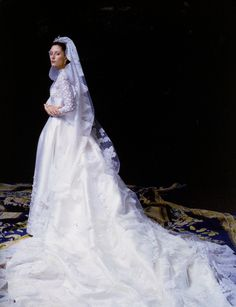 Her Royal Highness The Crown Princess of Greece, Princess of Denmark by David Seidner, July 1, 1995. Gown by Valentino.