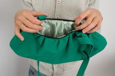 #FauxSuede / #Vegan Suede #Bag #Purse Bright #Green Bag #Minimalist by Marewo