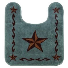 Hiend Accents Contour Star Bath Rug Turquoise Rugs