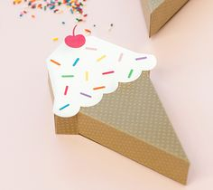 Ice Cream Cone Gift Box Party Favors by Studio DIY. Make It Now with the Cricut Explore in Cricut Design Space